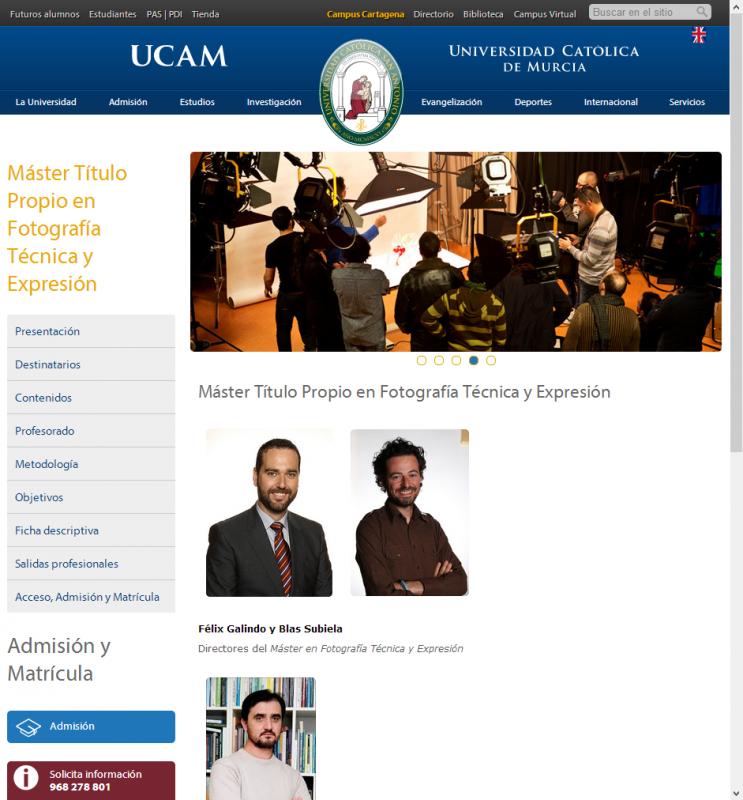 Master Fotogenio UCAM 2014