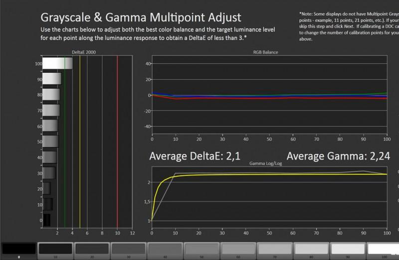 CalMan Gamma Result - Dreamcolor Salacine-p