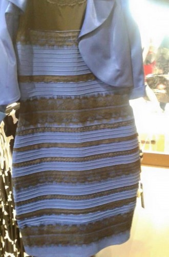 strange blue dress