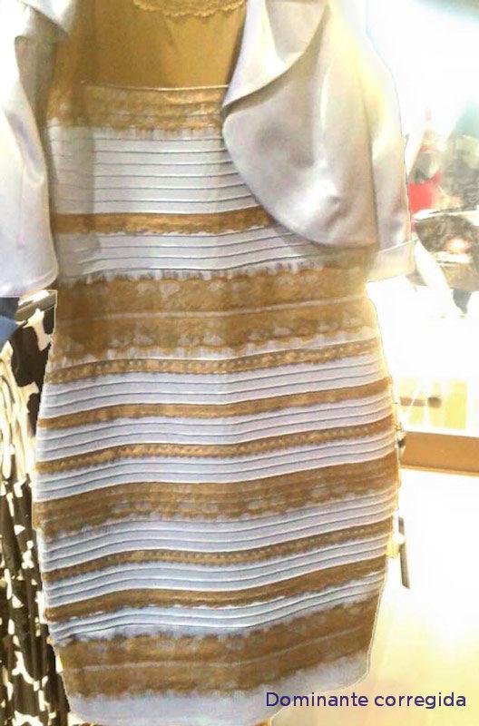Vestido azul con negro dorado blanco