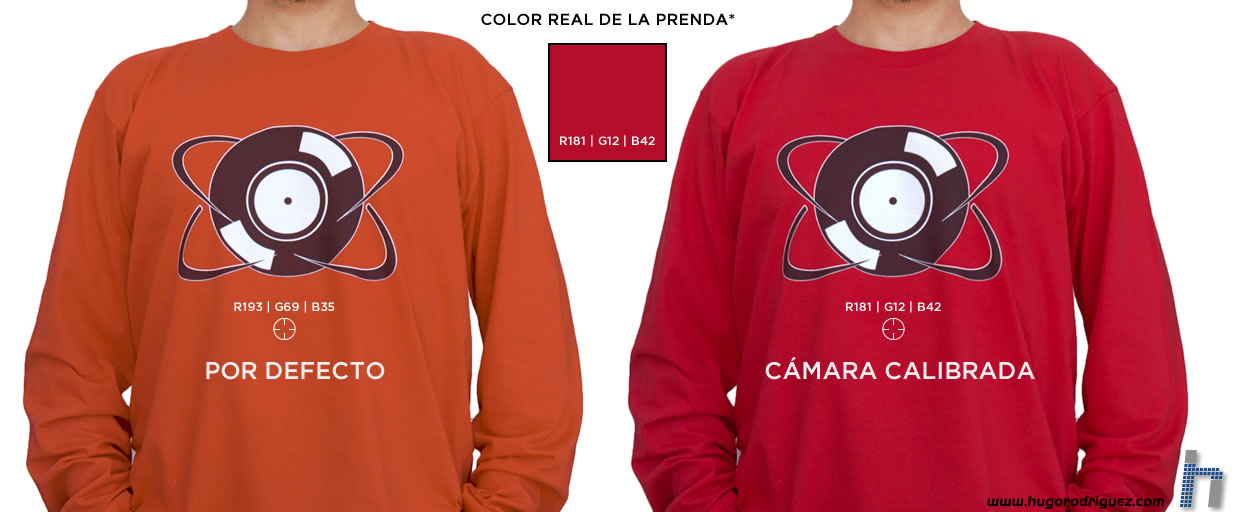 Ejemplo camiseta roja