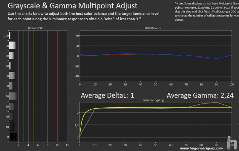 CALMan Gamma Results SHARP 80 EGM