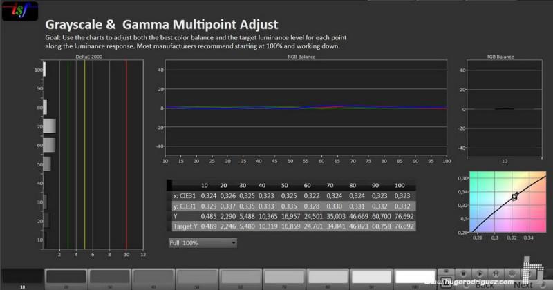 CalMan Gamma Result - Panasonic 50CX700 A Iniesta