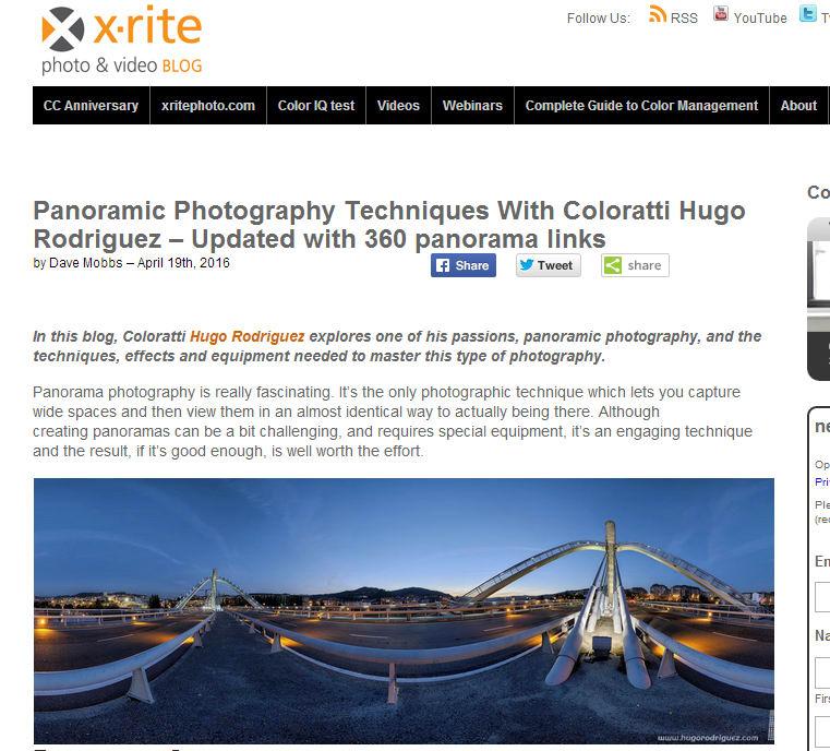 Articulo panoramicas X-Rite
