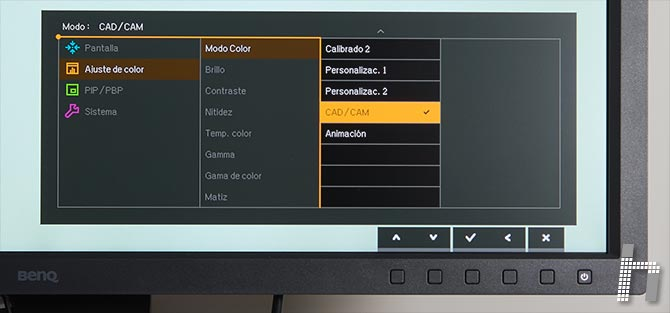 Menus-BenQ-SW320-Modo-color-p-10CADCAM