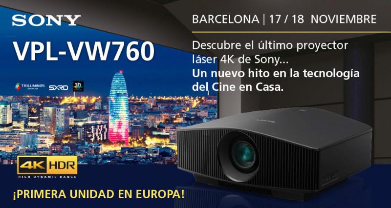 2017-11-18 Presentacion proyector SONY 4K Laser Supersonido