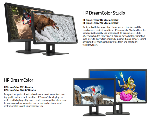HP Z32x Web - Gama Dreamcolor