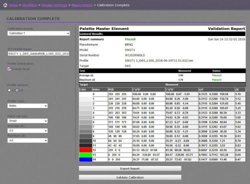 BenQ Palette Elements SW271 - 025