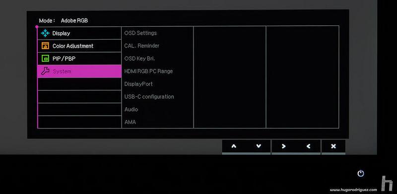 BenQ SW271 menus ENG 009