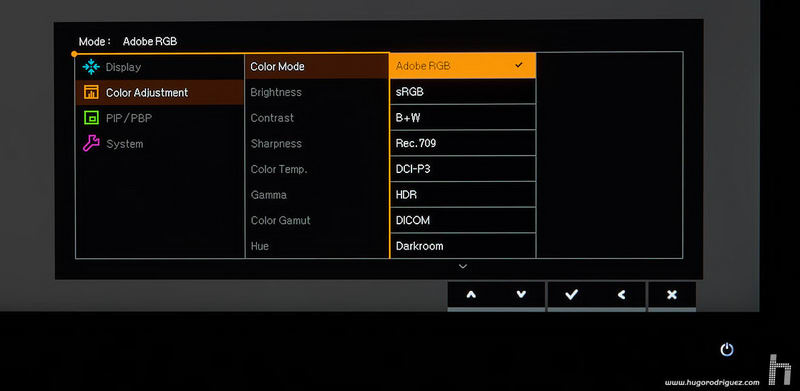 BenQ SW271 menus ENG 014